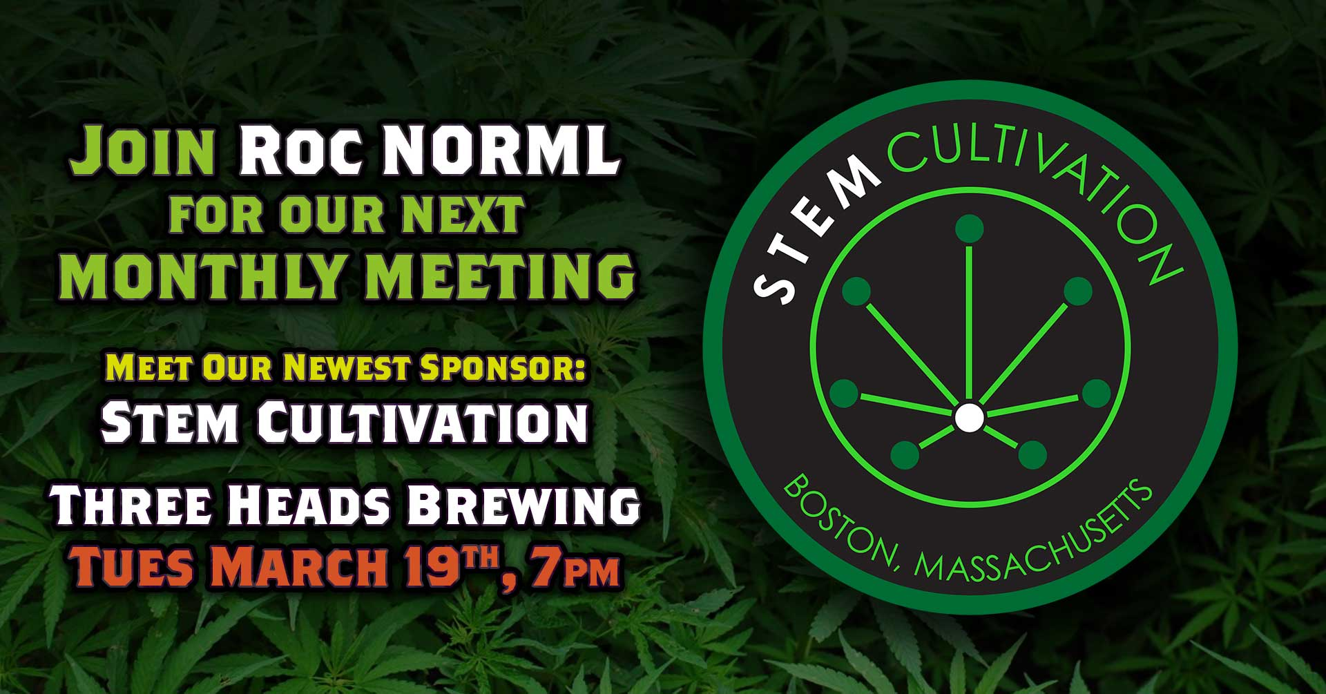 Roc NORML March 19 Meeting