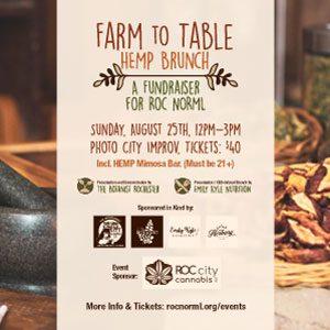 8/25 A Farm To Table Hemp Brunch: A Fundraiser For Roc NORML